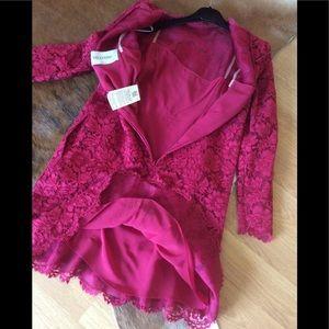 Valentino Dresses - 💯 Authentic Valentino Lace cranberry dress